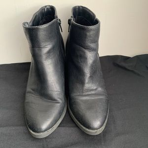 Call It Spring pleather boots with back detailing